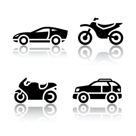 Set of transport icons - sports transportation Иллюстрация