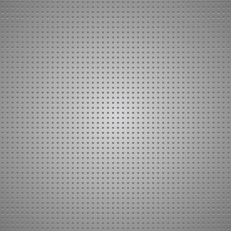 Structured gray metallic perforated sheet Vector