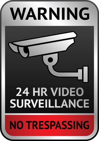 Video surveillance label Stock Vector - 13290877