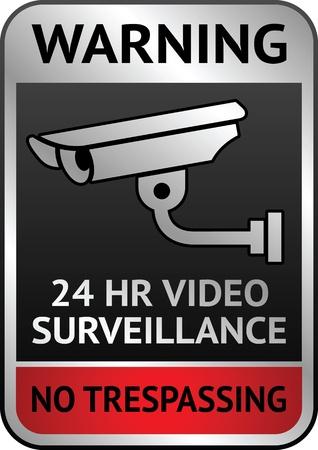 Video surveillance label Stock Vector - 13290877