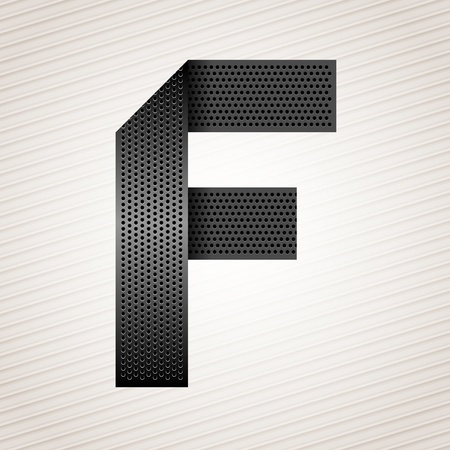 mechanical radiator: Letter metal ribbon - F