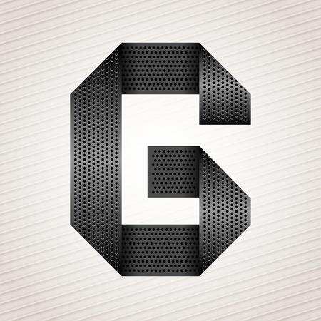Letter metal ribbon - G