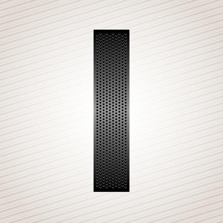 Letter metal ribbon - I Stock Vector - 13290893