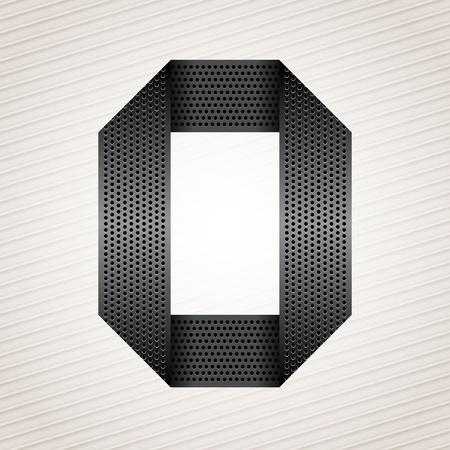 perforation tape: Letter metal ribbon - O
