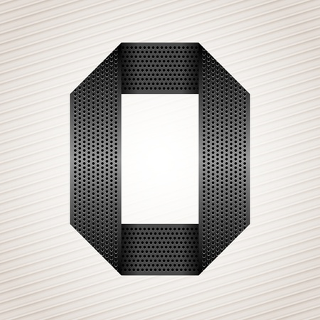 orifice: Letter metal ribbon - O