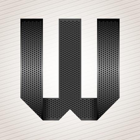 perforation tape: Letter metal ribbon - W