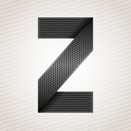 mechanical radiator: Letter metal ribbon - Z