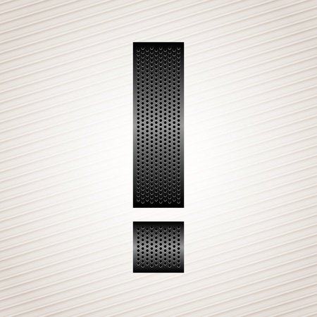 Letter metal ribbon - exclamation mark Stock Vector - 13330837