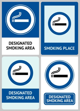Label set Smoking area Stock Vector - 13330833