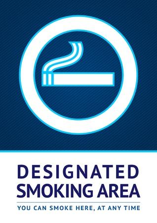 Label smoking area sticker Vector