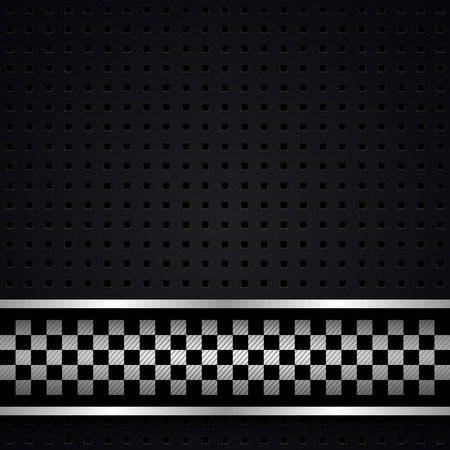 mechanical radiator: Structured dark metallic perforated for race sheet Illustration