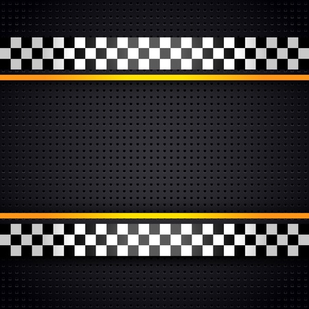Structured metallic perforated for race sheet template Vector