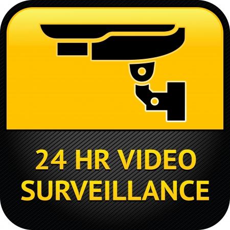 warning graphic: CCTV symbol