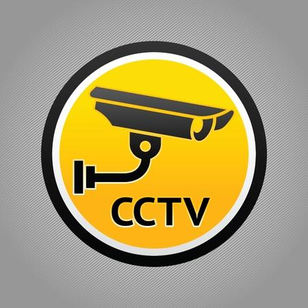 cam�ra surveillance: Pictogramme d'avertissement de surveillance par cam�ra Illustration