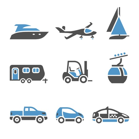 privat: Transport Icons - A set of first Illustration