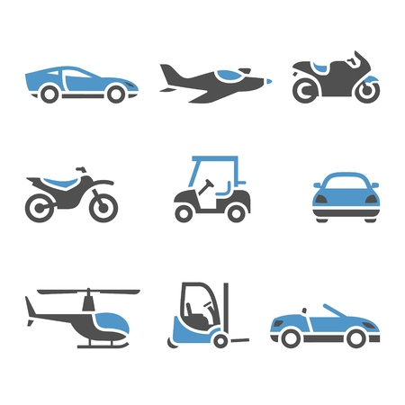 Transport Icons - A set of four Stock Vector - 13408355