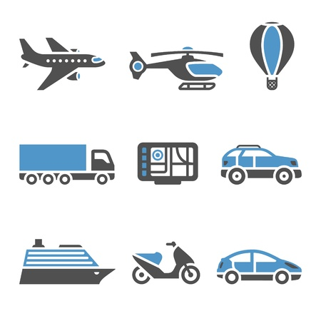 traffic signs: Transport Icons - A set of second Illustration