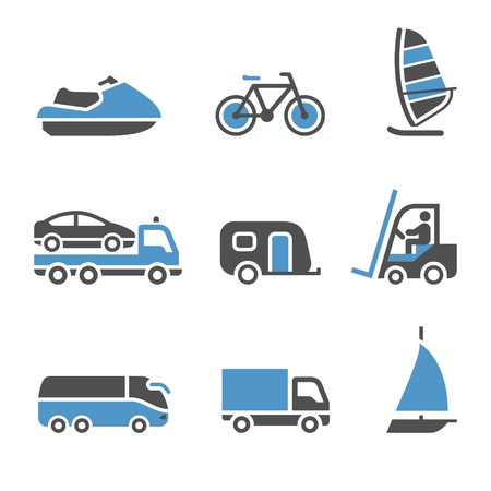 excursions: Transport Icons - A set of third Illustration