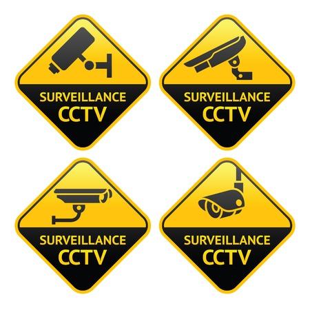 Pictogramme caméra de sécurité, surveillance vidéo