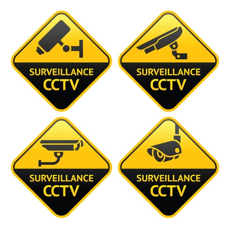 Security camera pictogram, video surveillance Vector