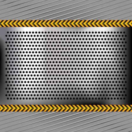 dark gray line: Metal perforado superficie de cromo Vectores