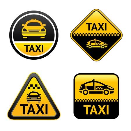 Botones de ajuste de taxi Ilustración de vector