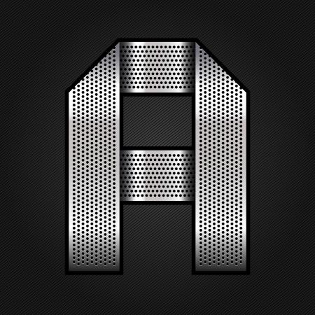 letras cromadas: Carta de la cinta de metal cromado - A