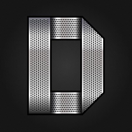 letras cromadas: Carta de metal cromado de la cinta - D Vectores