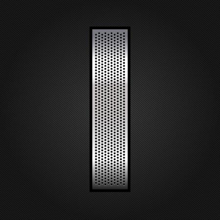 letras cromadas: Carta de metal cromado de la cinta - I