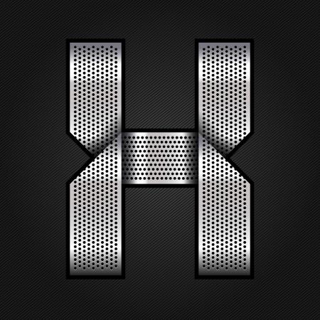 Letter metal chrome ribbon - X Vector