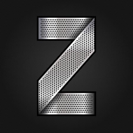 letras cromadas: Carta de metal cromado de la cinta - Z