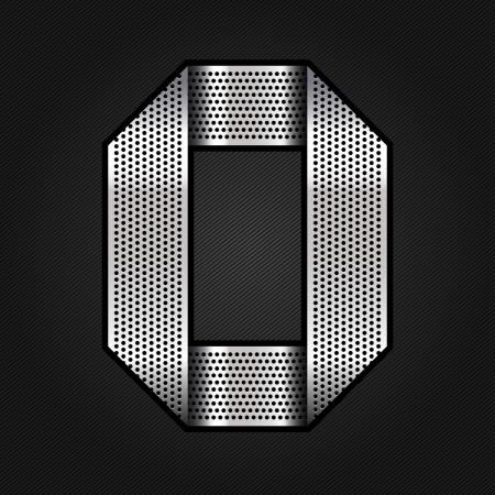 perforation: Number metal chrome ribbon - 0 - zero