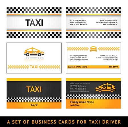 tarjeta de presentacion: Tarjeta de negocio de los taxis - primera serie