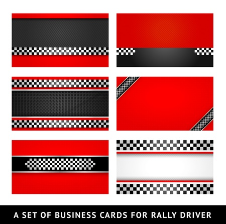 race car driver: Business card - rally driver templates