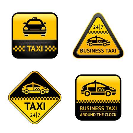 taxi cab: Taxi cab set labels