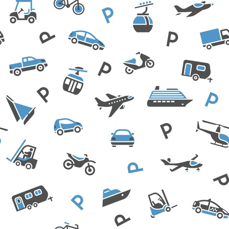 golf cart: Seamless backdrop transport icons