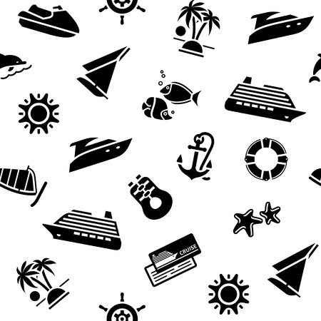 wrapping paper - transport icons, Vector