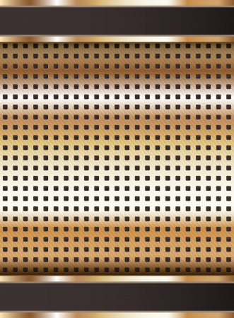 perforated surface: Background template, copper metallic texture