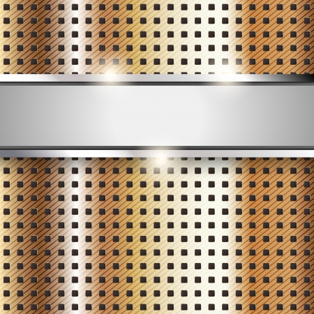 perforated sheet: Metal surface, copper iron texture background Illustration