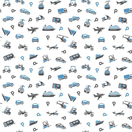 liner transportation: Seamless backdrop, transport icons, wallpaper