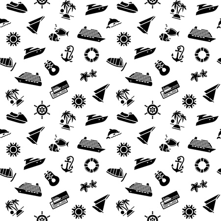wrapping paper - transport icons, wallpaper Vector