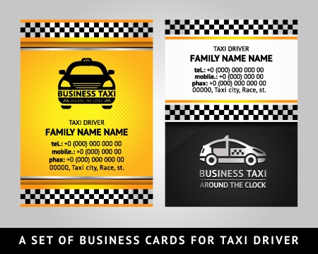new york taxi: Business card - TAXI CAB