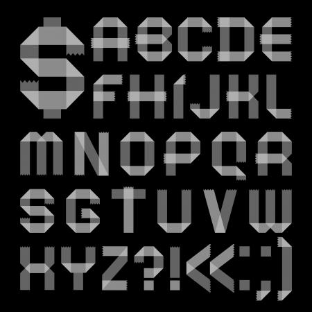 vellum: Font   Roman alphabet Illustration