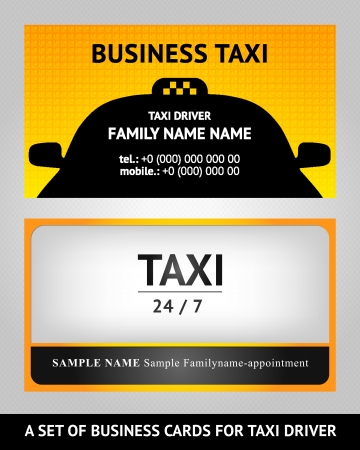 business cards taxi - set Stock Vector - 15752983
