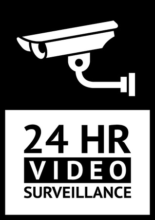 label CCTV symbol Stock Vector - 15752971
