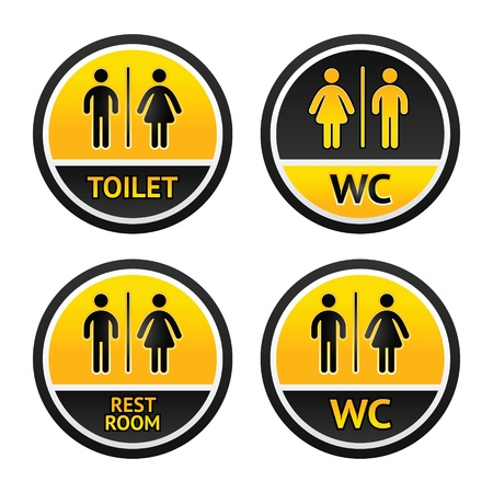 restroom sign: Toilet symbols