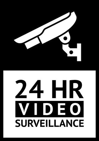 caution cctv: label CCTV