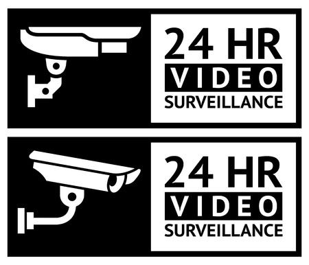 Video surveillance stickers Çizim