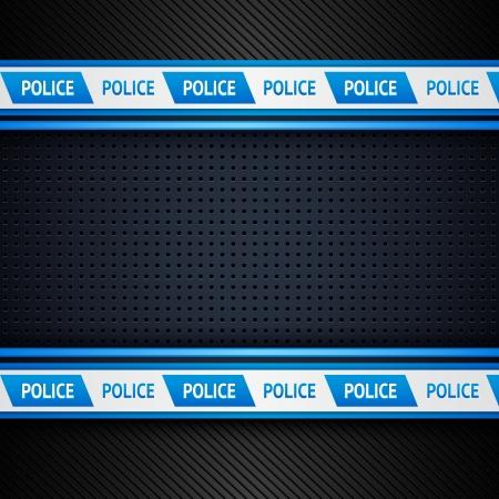policier: Fond m�tallique perfor�e policiers feuille, Illustration