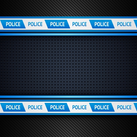 Metallic perforated sheet, police background Vector